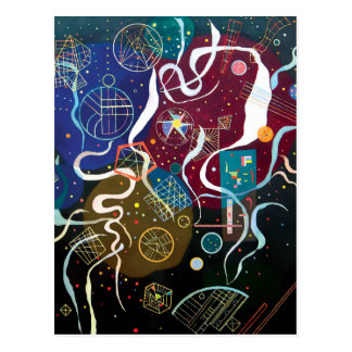 Wassily Kandinsky - abstrakte Kunst der Postkarte