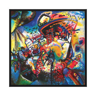 Wassily Kandinsky - Moskaucityscape-abstrakte Leinwanddruck