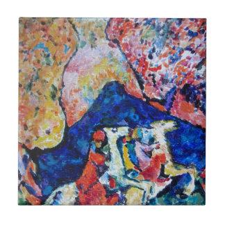 Wassily Kandinsky Pferdereiter-Blauberge Kleine Quadratische Fliese