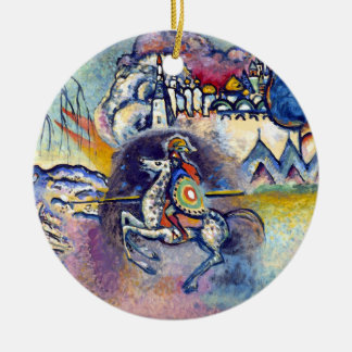 Wassily Kandinsky - St George u. die Reiter Rundes Keramik Ornament