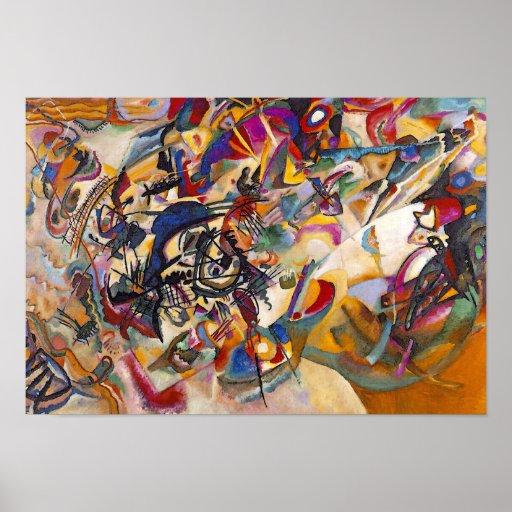 Wassily Kandinsky Zusammensetzung sieben Plakatdrucke
