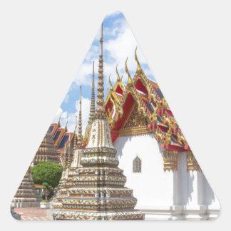Wat Pho, Bangkok Dreieckiger Aufkleber