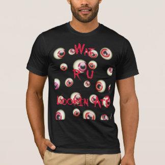 """Wat R U Lookin"" am T-Shirt (rot)"