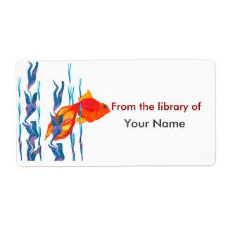 Watecolor niedliche rote Fisch-Digital-Steppdecke