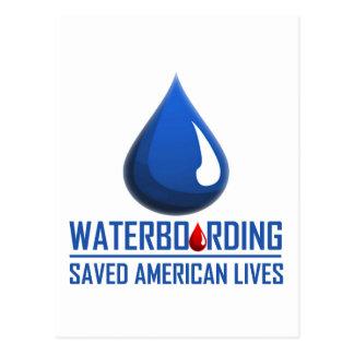 Waterboarding Postkarte