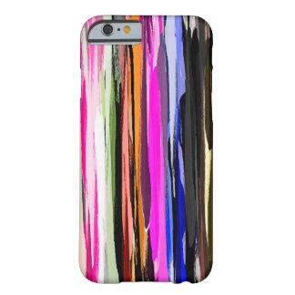 Watercolor-abstrakter Streifen-Hintergrund Barely There iPhone 6 Hülle