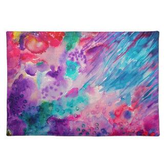 Watercolor-abstraktes Meer Stofftischset