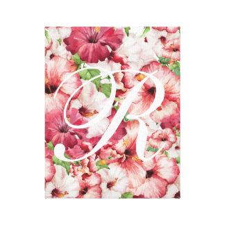 Watercolor-ausgedehnte Leinwand-Blumenkunst Leinwanddruck