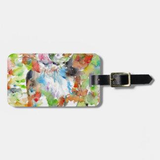 Watercolor-Beagle Gepäckanhänger