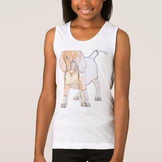 Watercolor-Beagle-Welpen-Hund Tank Top