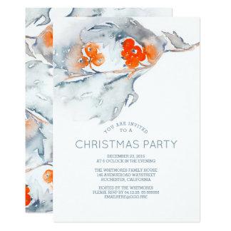 Watercolor-Beeren-WeihnachtsParty Karte