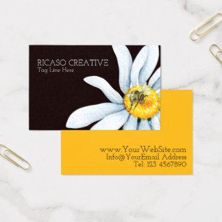 Watercolor-Biene auf der Blume personalisiert Visitenkarte