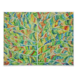 Watercolor-Blatt-Foto-Druck Fotodruck