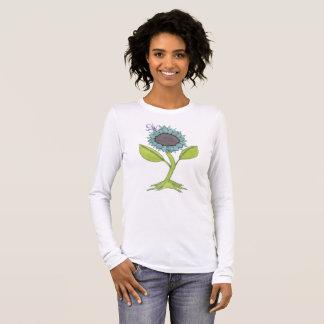 Watercolor-Blume - freuen Sie sich! Langarm T-Shirt