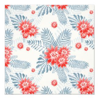 Watercolor-Blumen-Einladungskarte Quadratische 13,3 Cm Einladungskarte