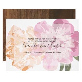 Watercolor-Blumen. Frühlings-Hochzeit. Aufnahme Karte
