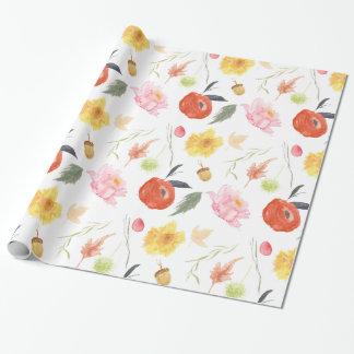 Watercolor-Blumen Geschenkpapier