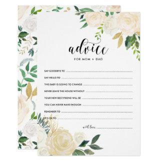 Watercolor-Blumen-Goldrat für die Eltern Karte