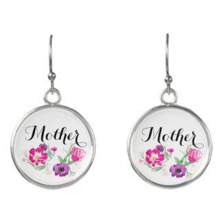Watercolor-Blumen-Ohrring der Mutter Tagesgeschenk Ohrringe
