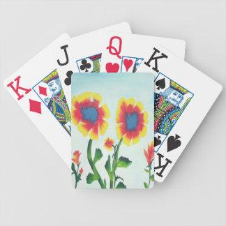 Watercolor-Blumen Poker Karten