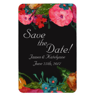 Watercolor-Blumen | Save the Date Magnet