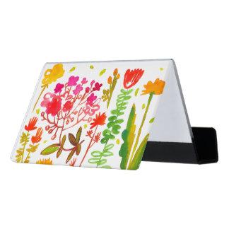 Watercolor-Blumen Schreibtisch-Visitenkartenhalter