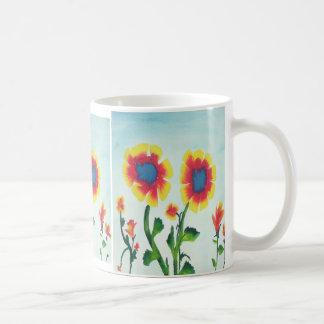 Watercolor-Blumen Tasse
