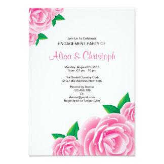 Watercolor-Blumen-Verlobungs-Party Einladung