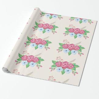 Watercolor-BlumenBlumen-Blumenstrauß Geschenkpapier