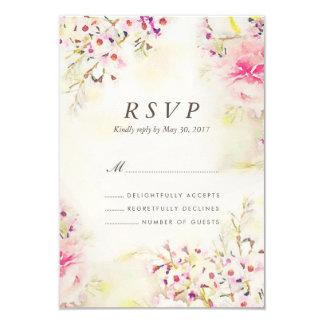 Watercolor BlumenBoho Vintage Hochzeit UAWG Karte 8,9 X 12,7 Cm Einladungskarte
