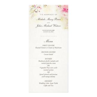 Watercolor BlumenBoho Vintages Hochzeits-Menü Individuelle Werbe Karte