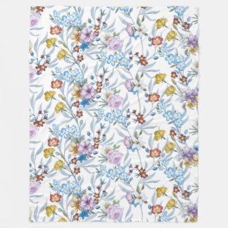 Watercolor-Blumenmuster - Blumenmuster Fleecedecke