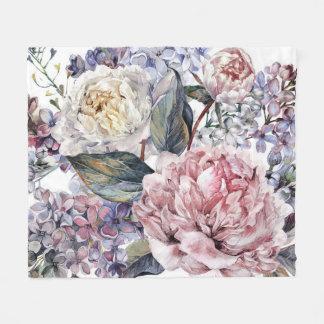 Watercolor-Blumenstrauß-Fleece-Decke Fleecedecke