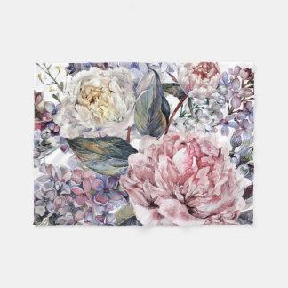 Watercolor-Blumenstrauß-kleine Fleece-Decke Fleecedecke
