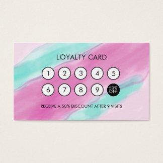 Watercolor-cooler eleganter Loyalitäts-Rabatt Visitenkarte