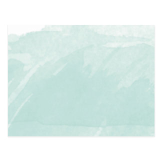 Watercolor, der blaue aquamarine Minze malt Postkarte