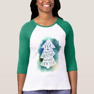 Watercolor des Weihnachten| - Festtages-Zitat T-Shirt