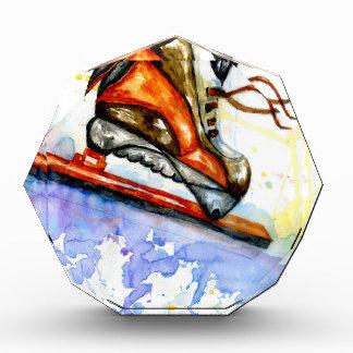 Watercolor-Eis-Skate Auszeichnung
