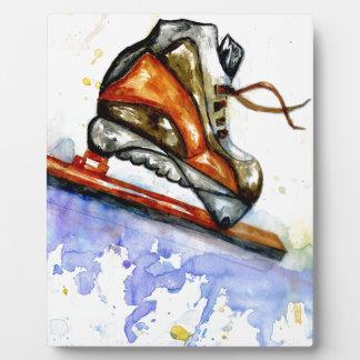 Watercolor-Eis-Skate Fotoplatte