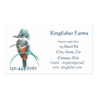 Watercolor-Eisvogel-Bio Bauernhof-Geschäfts-Logo Visitenkarten
