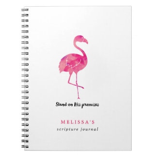 Watercolor-Flamingopersonalisierte Spiral Notizblock