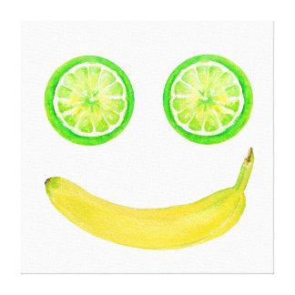 Watercolor-Frucht-Smiley-Leinwand-Druck Leinwanddruck