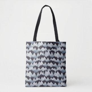 Watercolor-Gebirgsgezackte Streifen-Muster-Tasche Tasche