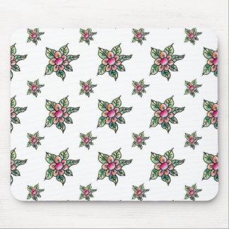 Watercolor Gekritzel-Blumen Mousepad