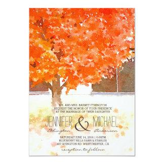 Watercolor-Herbst verlässt | Hochzeit im 12,7 X 17,8 Cm Einladungskarte
