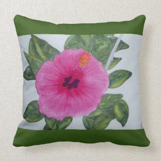 Watercolor-Hibiskus-Blume Kissen
