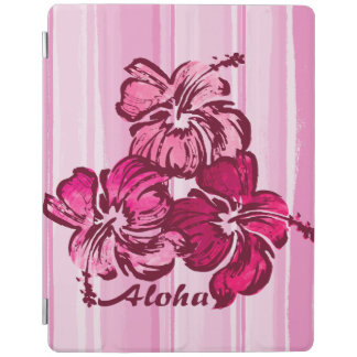 Watercolor-Hibiskus-hawaiisches tropisches iPad Smart Cover
