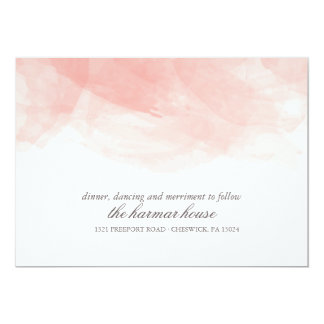 Watercolor-Hochzeits-Empfangs-Karte 12,7 X 17,8 Cm Einladungskarte