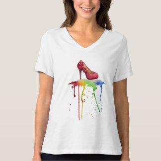 Watercolor-hohe Fersen-T - Shirt