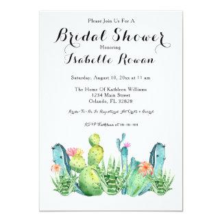 Watercolor-Kaktus-Brautparty-Einladungs-Karte Karte